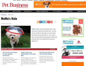 Read news about Muffin's Halo for blind dogs